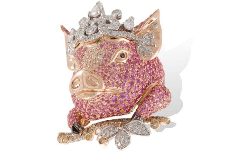Lydia Courteille Pig Jewelry