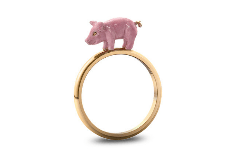 Solange Azagury Partridge Pig Ring