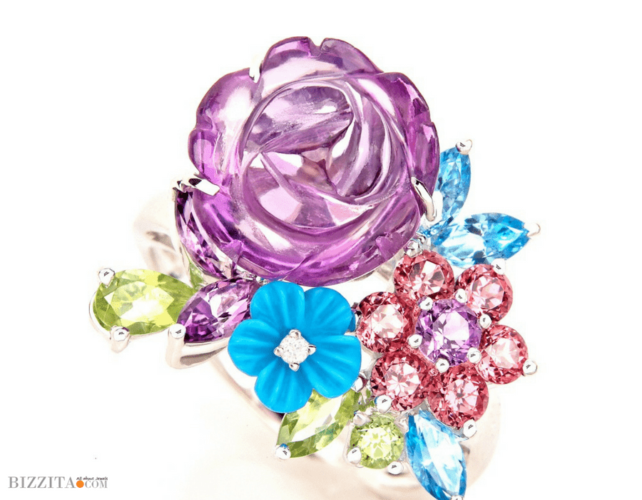 Floral Jewelry Aaron Schum Ring