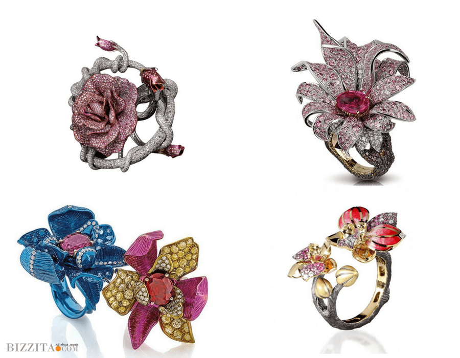 Floral Jewelry faberge Ring