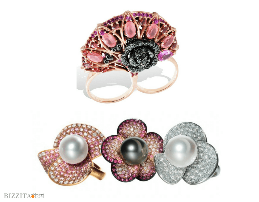 Floral jewelry Schoeffel ring Lydia Courteille