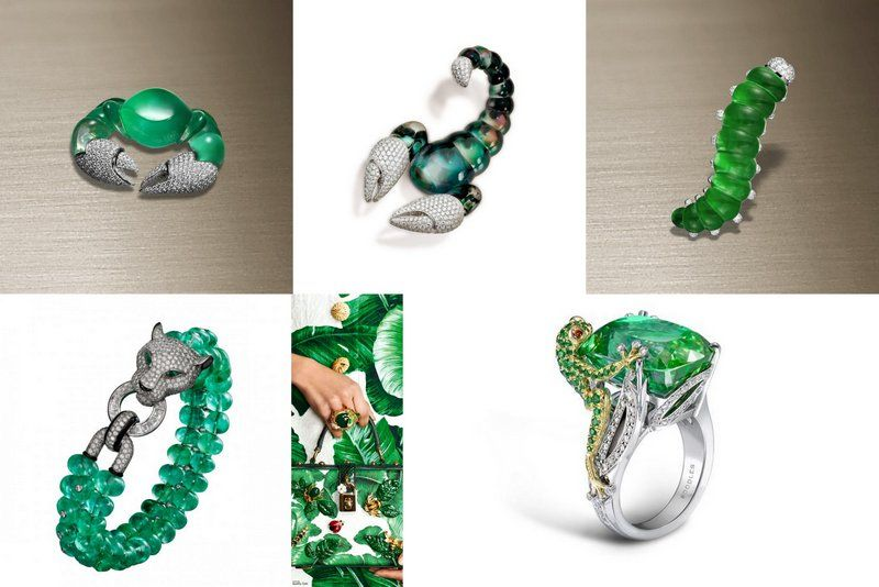 Jewelry Trend Animals 2017 emerald