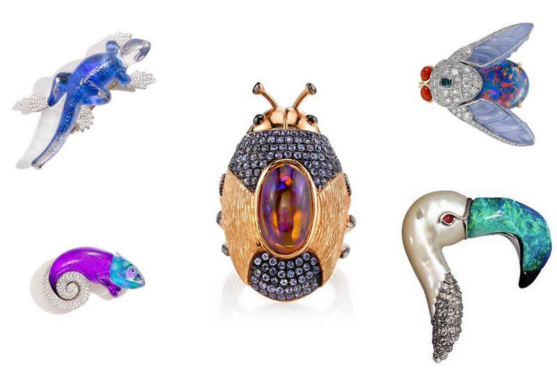 Jewelry trend 2017 Animals opal