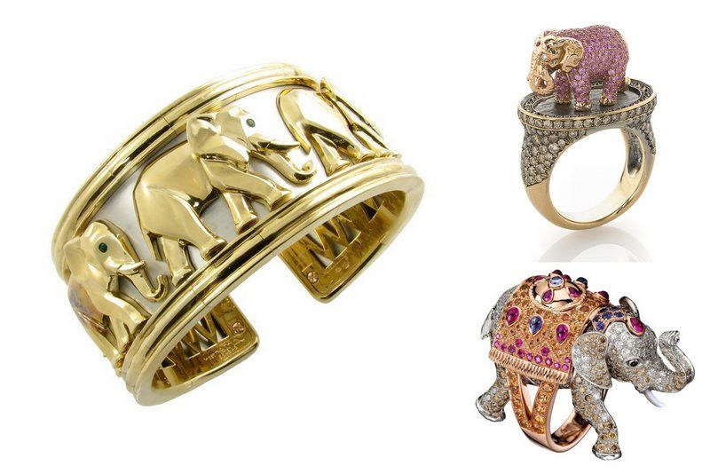 Jewelry trends2017elephants