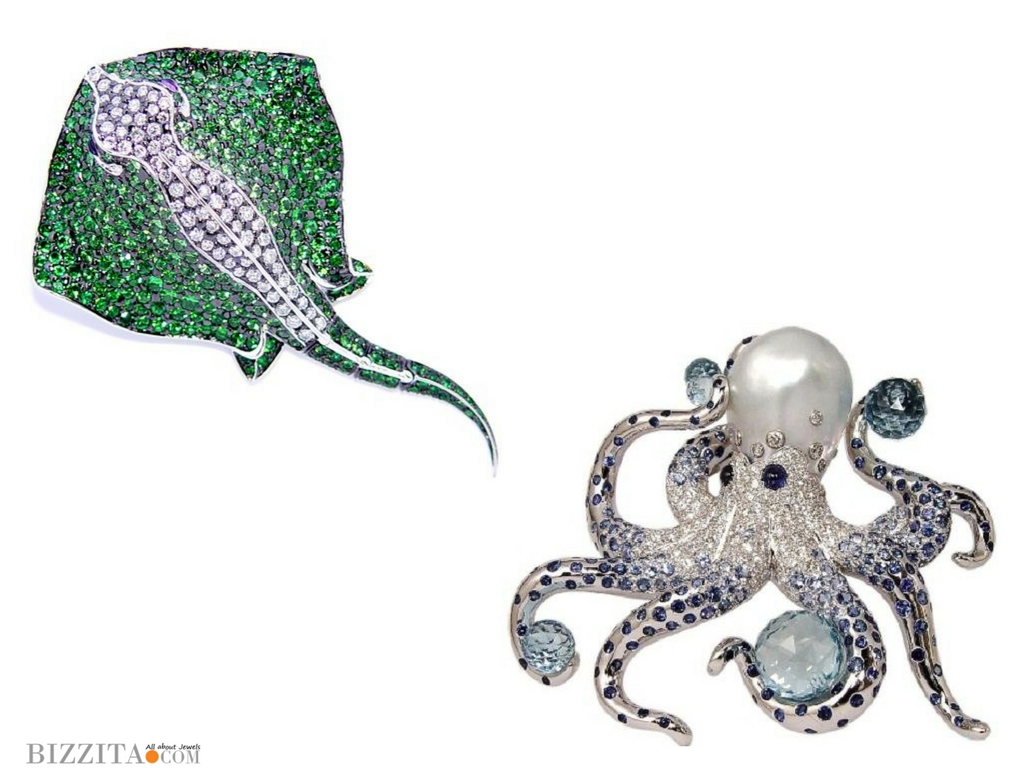 StephenWebster Marchak Jewelry rayoctopus ringbrooch
