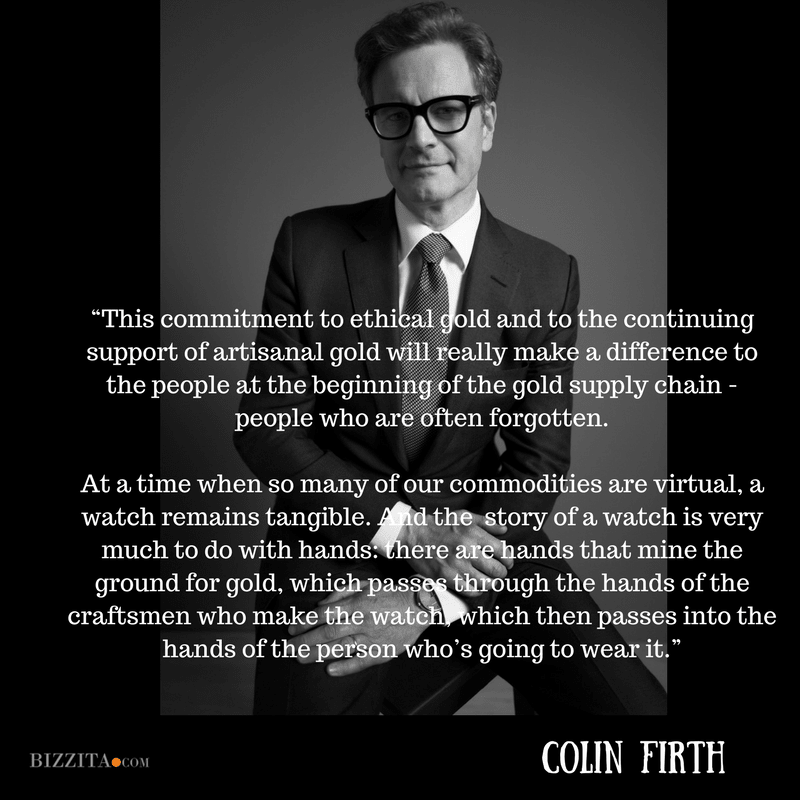 Colin Firth Ethical Gold Chopard BaselWorld