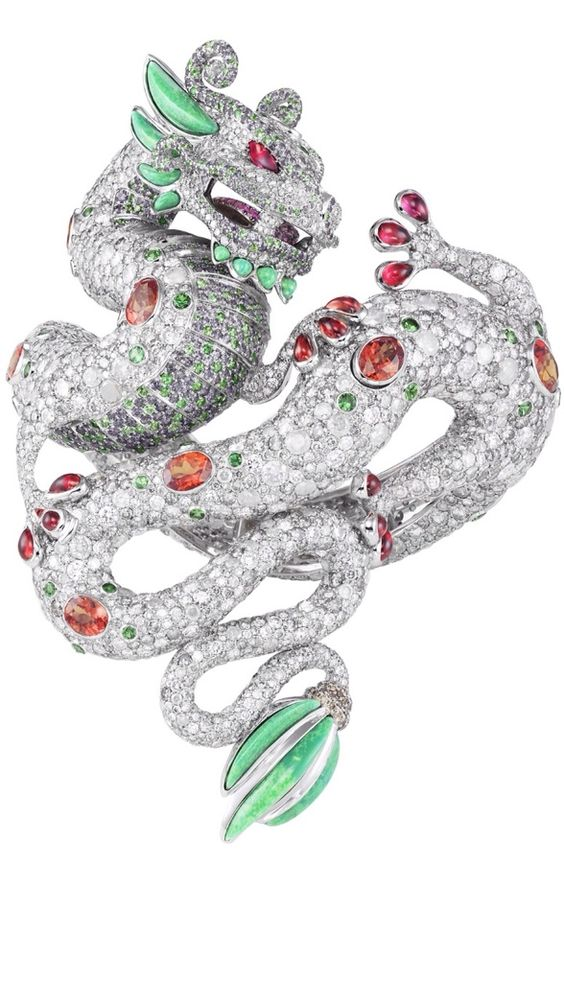 Chopard Dragon rubies diamond emerals turqoise