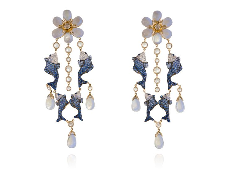 Lydia Courteille Earrings Fish