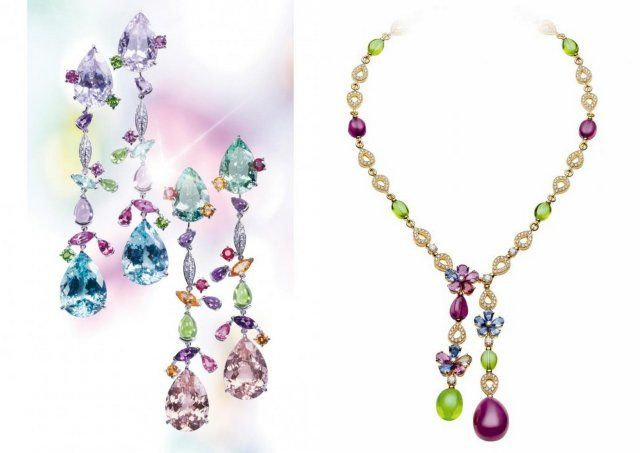 Peridot Cartier Bulgari necklace earrings luxury jewelry blog