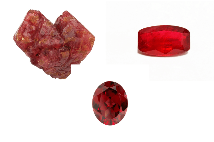 Red Jewelry Gemstones
