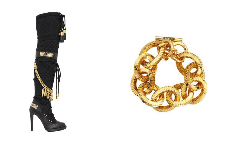 Moschino x Hm Boot and Bracelet 3999