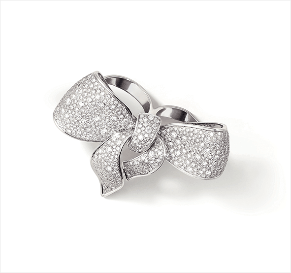 fiocco white gold ring