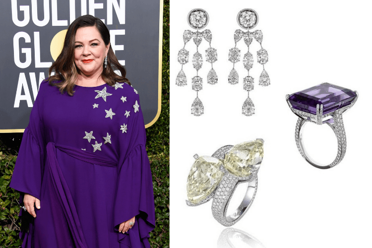 JewelryGoldenGlobes Melissa McCarthy Chopard