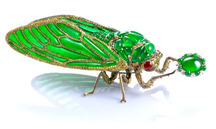 Wallace Chan Stilled Life Cicada Brooch jewelry
