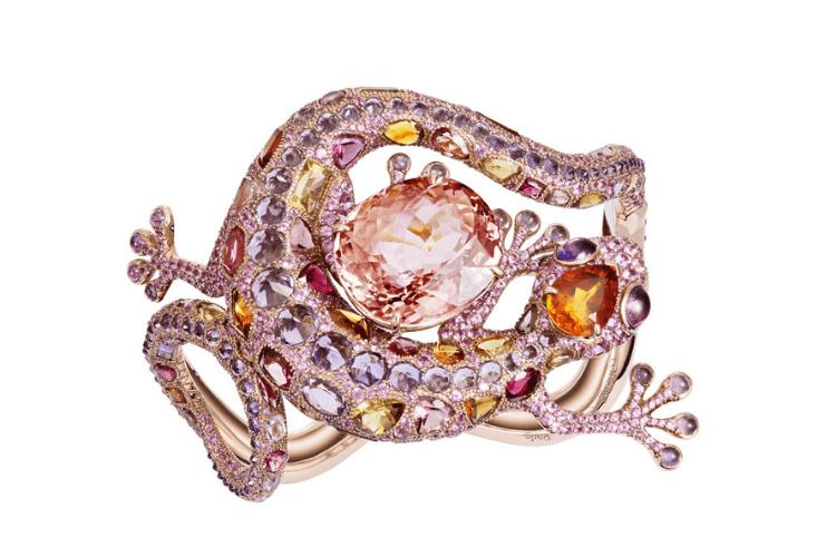 19.Lorenz Baumer GeckoBraceletTourmaline citrineamethystpinksapphires