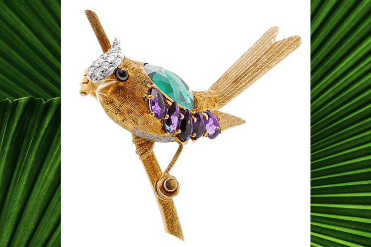 2.Tiffany jean schlumberg Bird vintage Jewelry
