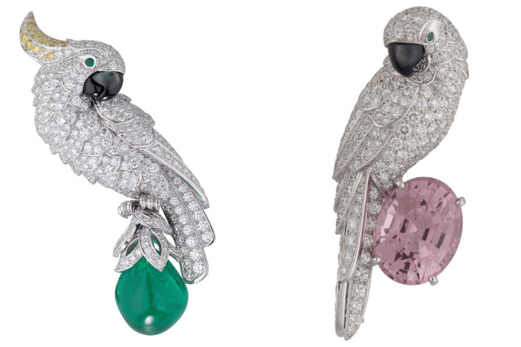 26.Cartier high jewelry Fauna Flora PLatinum emerald motherofpearldiamonds
