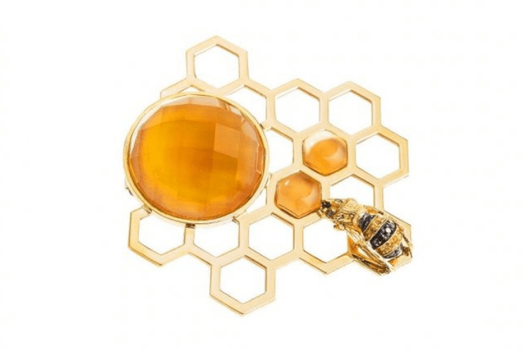 31.Delfina Delletrez Brooch black diamonds sapphire citrine Animal Bee Bizzita.com jewelry
