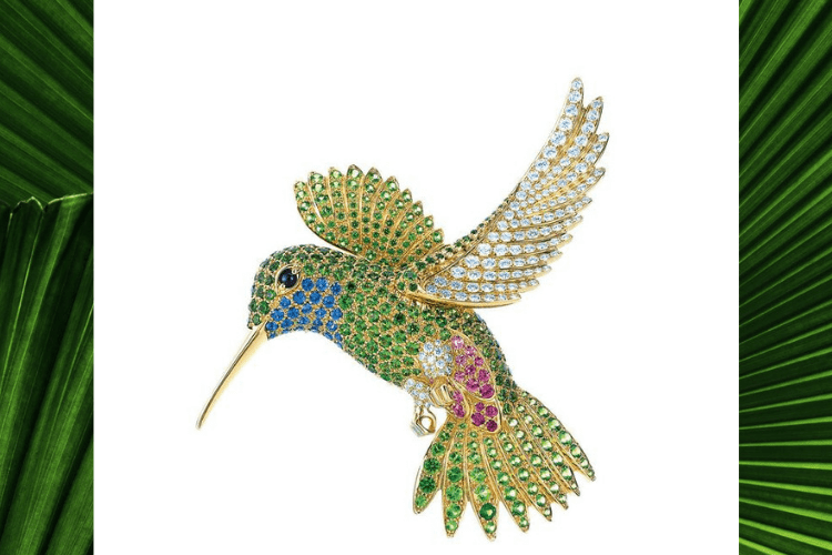 6.Tiffany HummingBird Jean Schlumberg design Vintage jewelry bird animal