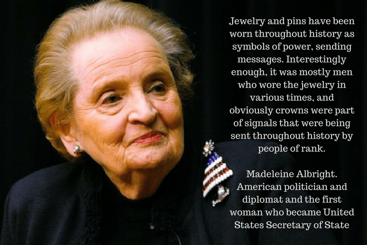 madeleineAlbright jewelry