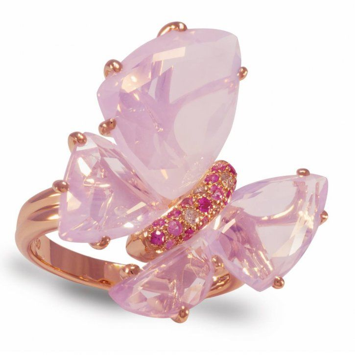 Animal jewelry Isabella Langlois Ring Pink butterfly bizzita
