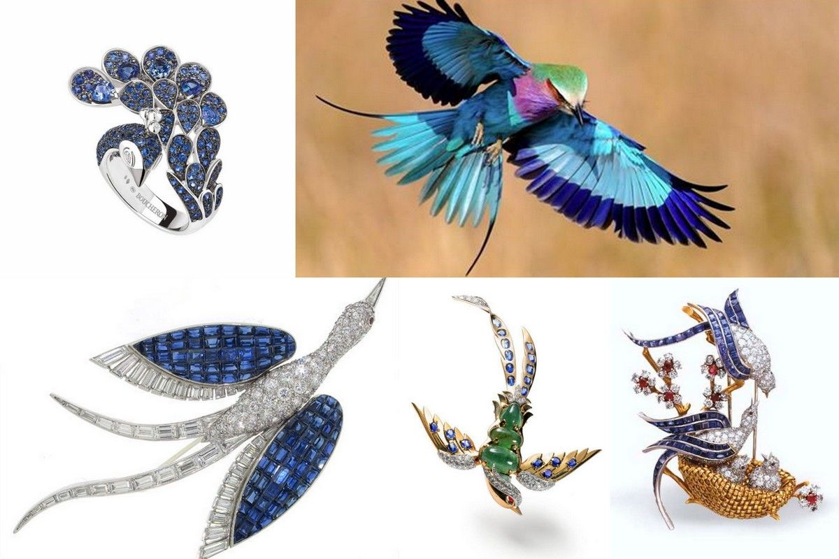 Bird jewelry blue Boucheron