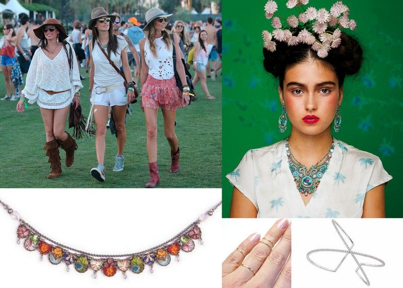 Coachella style fashion jewelry