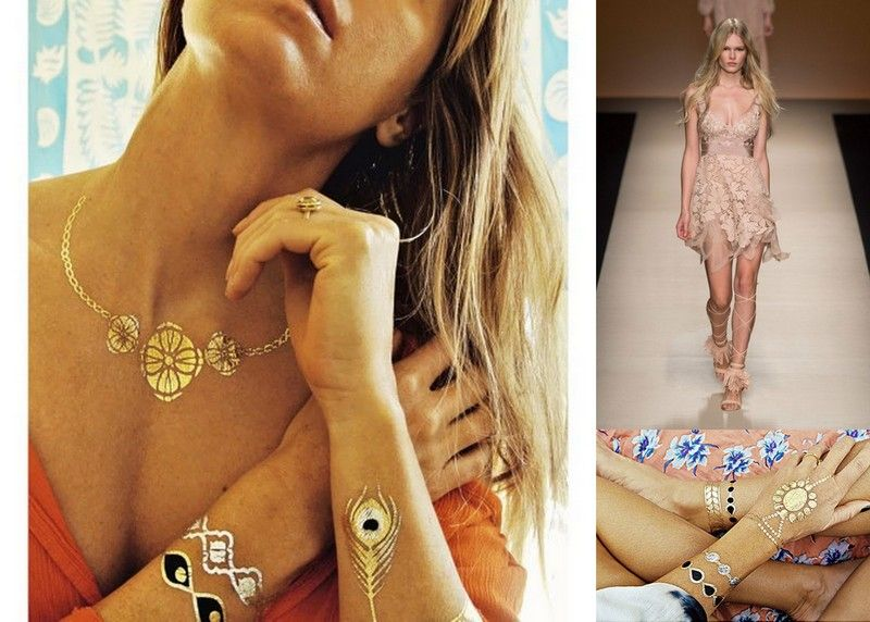 Coachella style tattoo jewelry