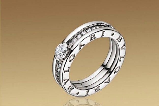 Engagement ring diamond Bulgari bzero
