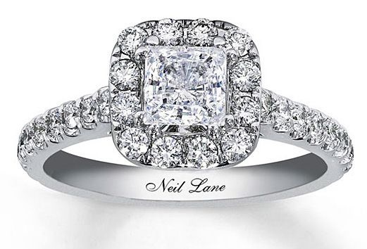 Engagement ring diamond Neil lane Kay jewelers