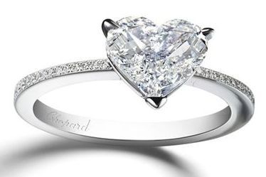 Engagement ring diamond heart Chopard