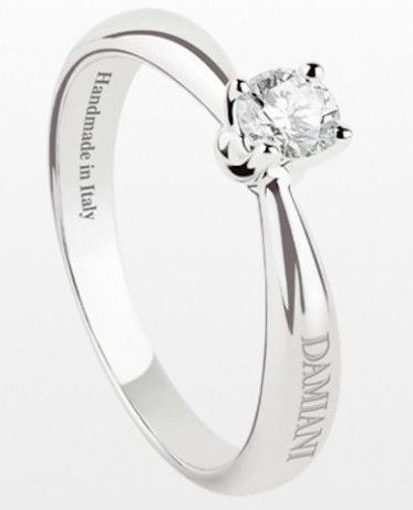 Engagement ring diamond solitair Damiani fabula