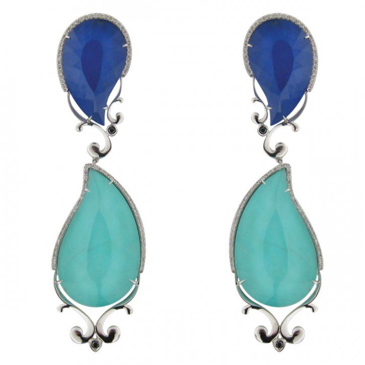 J Jewels milano earrings turquoise