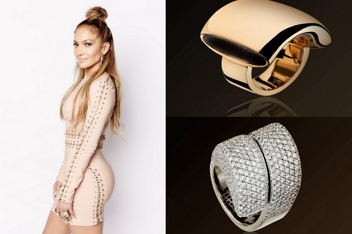 Jennifer Lopez jewelry vhernier ring