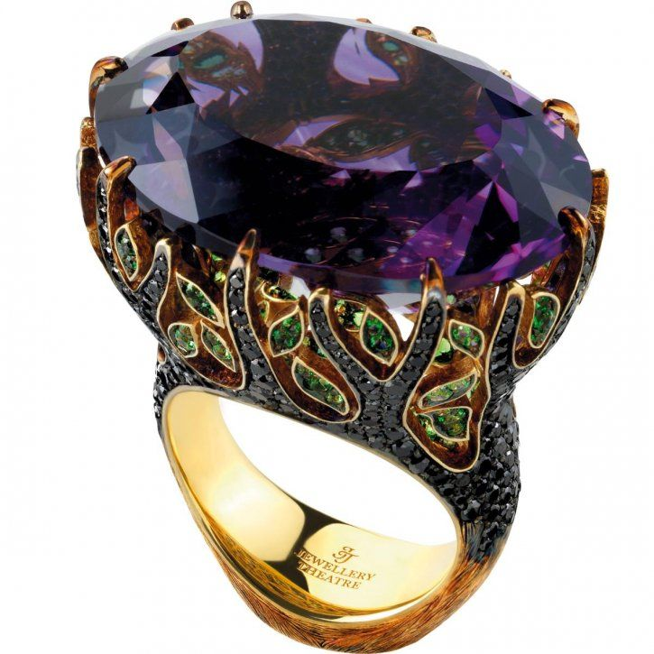 JewelleryTheatreAmethyst blackdiamondtsavoriteringjewelry