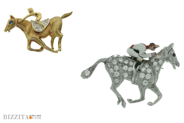 Racehorses Jewelry gold Diamonds Blog brooch 2