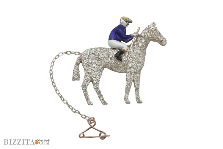 Racehorses Jewelry gold Diamonds Blog brooch 4