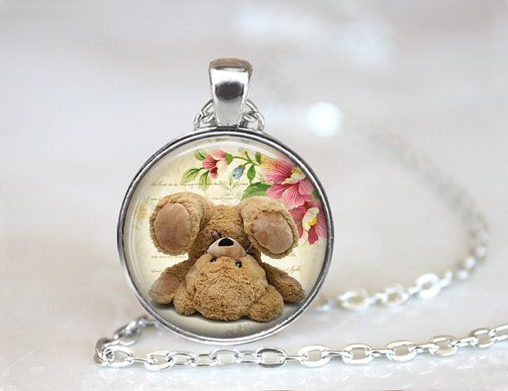Kids jewelry teddybear ThependantchickEtsy.8