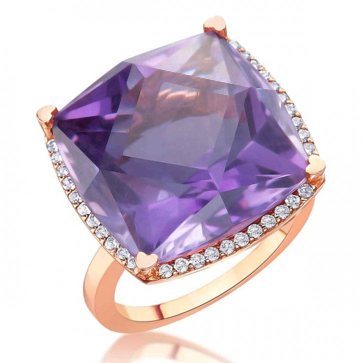 Lisa Nik Rocks collection Ring Purple