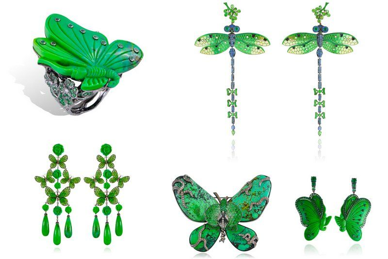 Lydia Courteille Butterflies dragonfly jewelry animalier