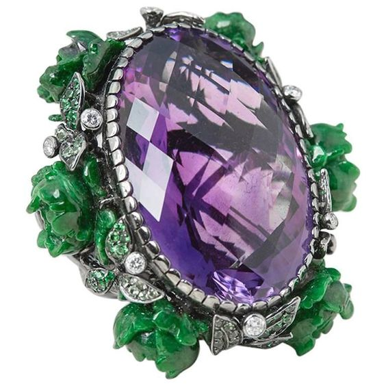 Lydia Courteille Floral amethyst