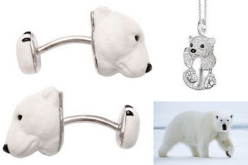 Polar bear jewelry Thomas sabo cufflinks