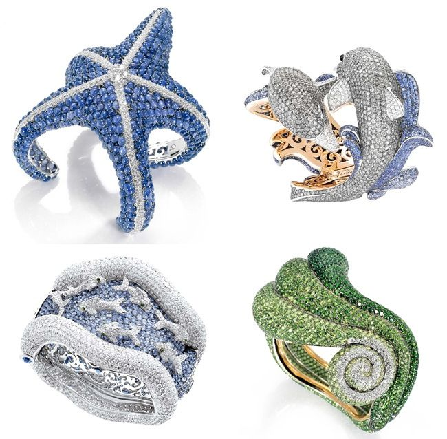 Sea theme jewelry Dolphin DeGrisogono