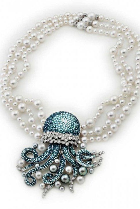 Sicis Jewels necklace jellyfish octopus