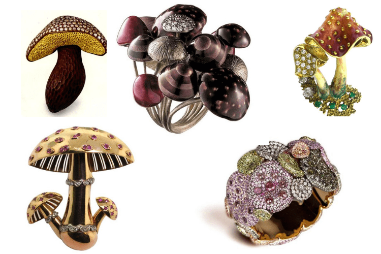 Vegetable Jewellery Mushrooms MauboussinH.SternHemmerle Andre Marcha