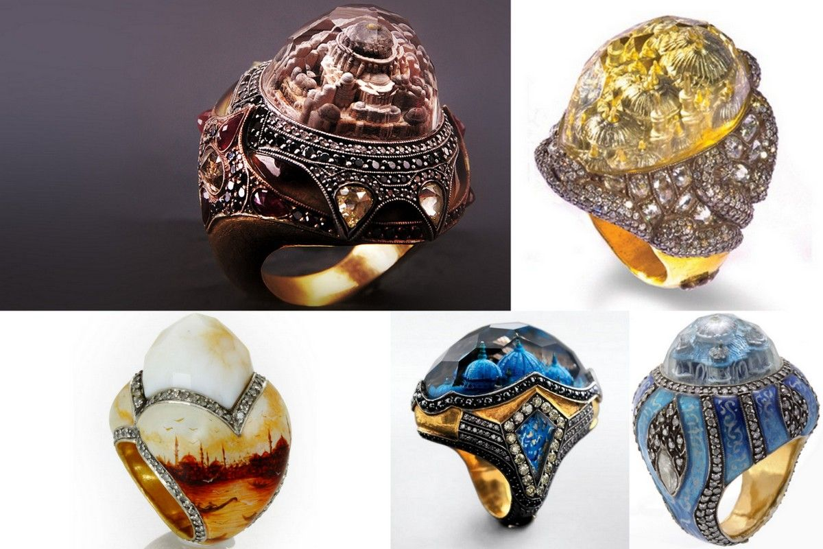 architectul rings-engraved rings Istanbul Sevan Bicakci