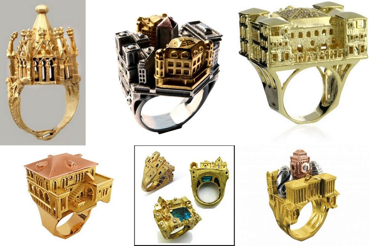 Architectural Rings How To Wear Cities On Your Finger