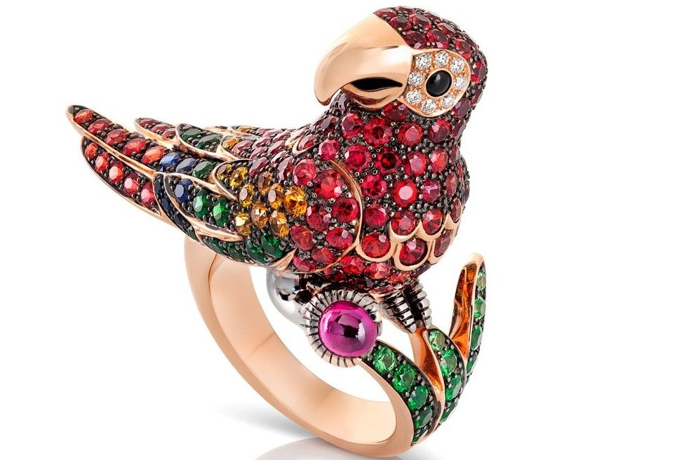 Roberto Coin Parrot ringjewelry animalier collection bizzita