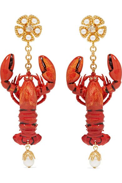 DolceGabbanaLobster Earrings favorite Fashionjewelry