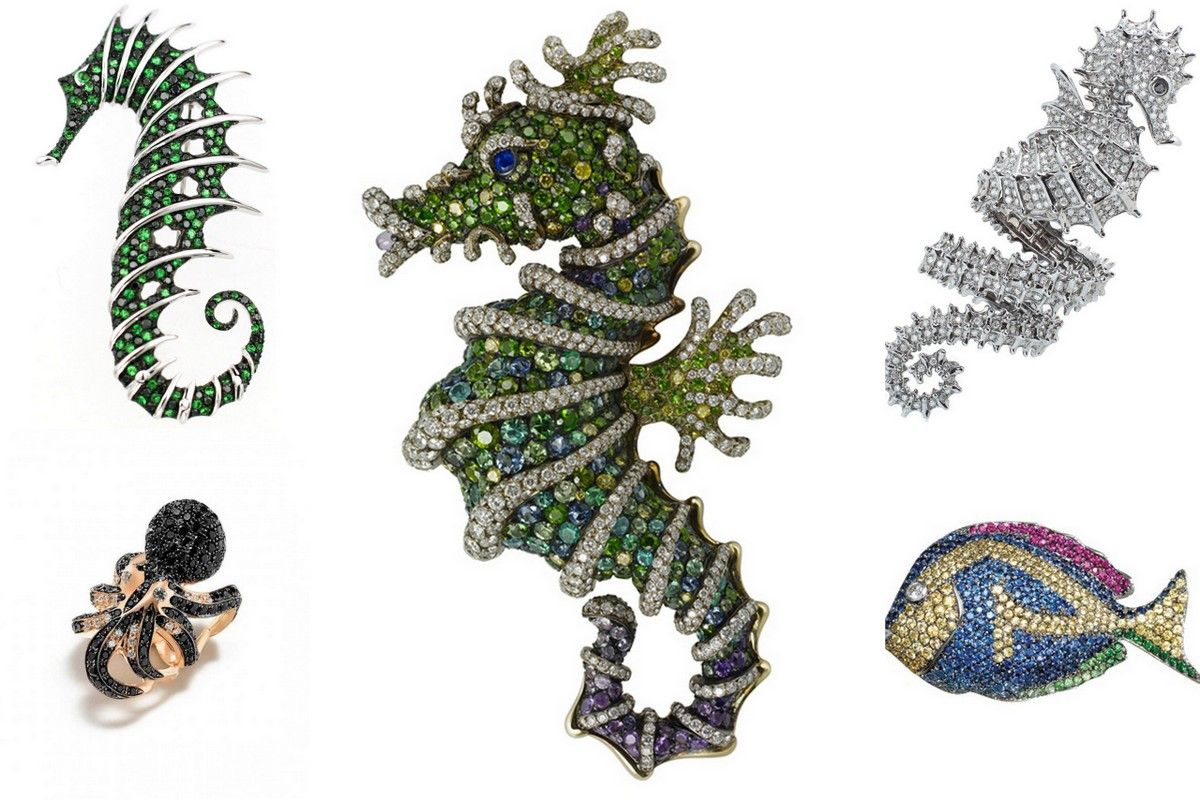 Seahorsess jewelry Boucheron Faberge